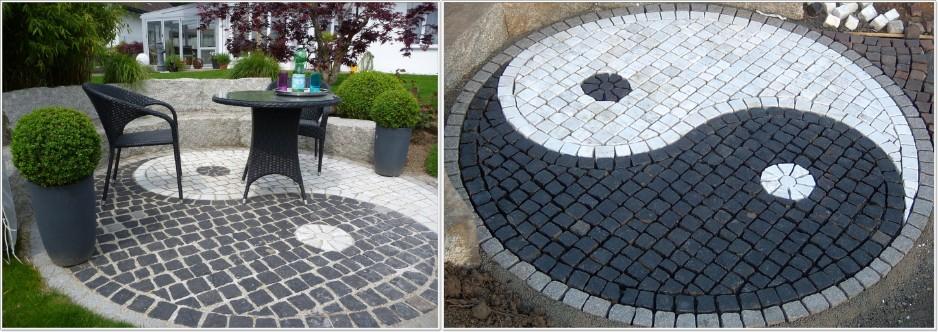 pflastersteine runde muster verschiedene ideen f r die raumgestaltung inspiration. Black Bedroom Furniture Sets. Home Design Ideas